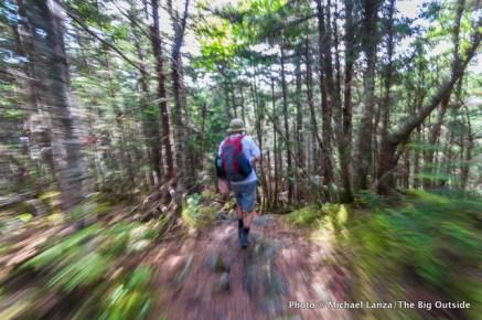 Marco hiking the Wildcat Ridge Trail.