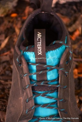Arc'teryx Acrux2 FL GTX Approach Shoe upper.