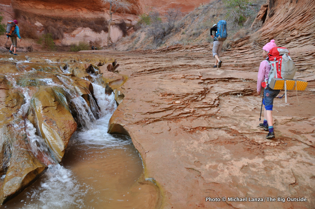 Backpacking Coyote Gulch, Grand Staircase-Escalante National Monument, Utah.