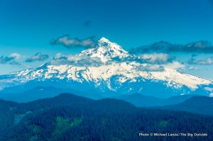 Mount Hood from Larch Mountain, Columbia Gorge.