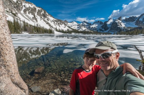 Nate and me at Alice Lake, Sawtooth Wilderness.