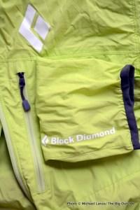 Black Diamond Alpine Start Hoody pocket and cuff