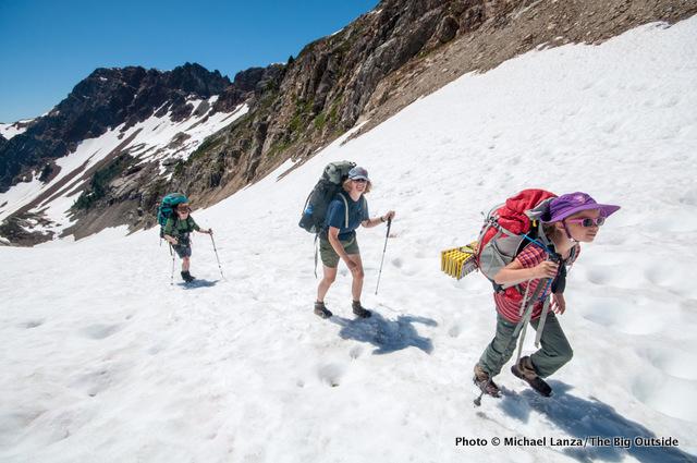 Hiking to Spider Gap, Glacier Peak Wilderness.