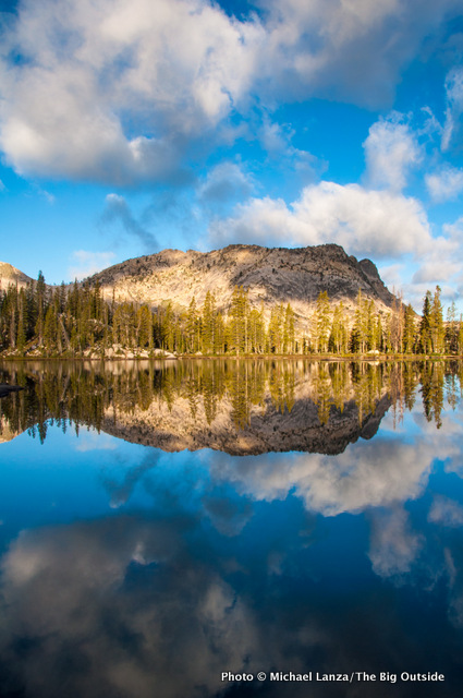 Rock Slide Lake in the Sawtooth Mountains, Idaho.