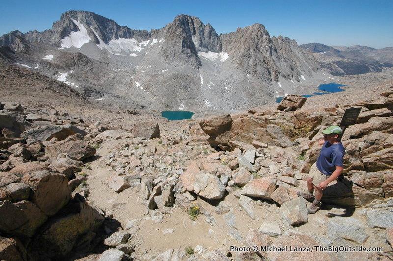 Jason Kauffman at Lamarck Col, John Muir Wilderness, High Sierra, CA.