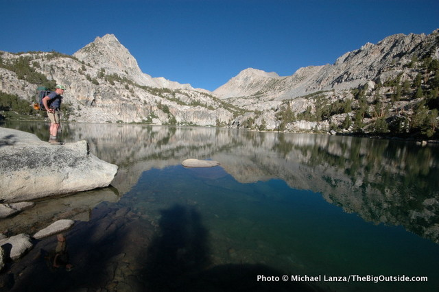 Lower Lamarck Lake, John Muir Wilderness, High Sierra, California.