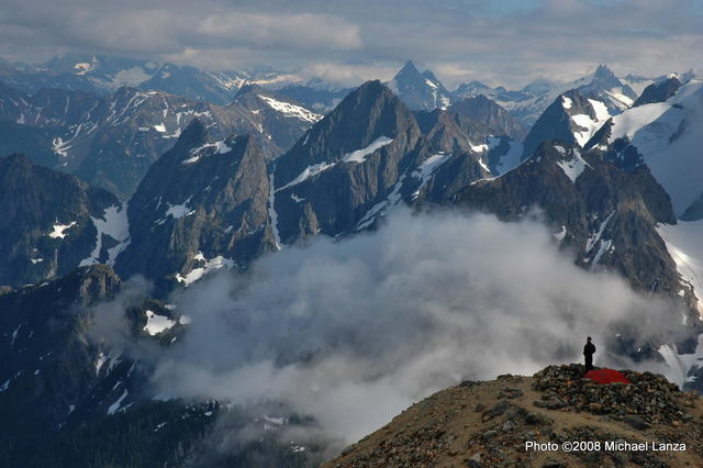 My 25 favorite backcountry campsites include Sahale Glacier Camp in North Cascades National Park.