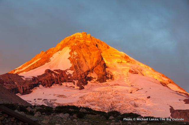 Sunrise on Mount Hood.