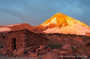 Sunrise at Cooper Spur shelter.