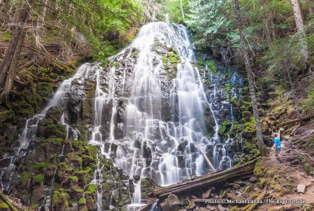 Ramona Falls, along the Timberline Trail around Oregon's Mount Hood.
