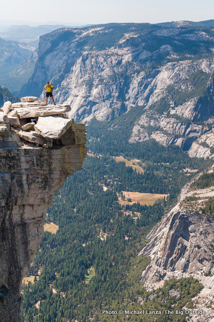 Todd Arndt on the summit of Half Dome, Yosemite National Park.