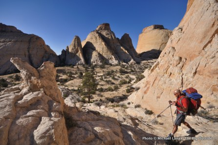 Blow Sand Canyon on the Beehive Traverse in Capitol Reef.