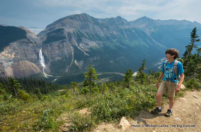 My son, Nate, hiking the Iceline Trail above Takakkaw Falls, Yoho National Park.