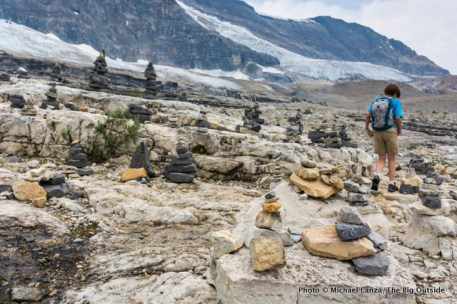 Cairns on the Iceline Trail.