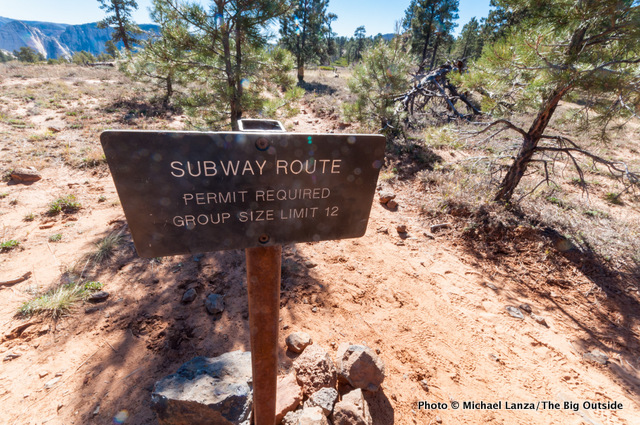 Start of The Subway route in Zion.