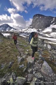 Trekking in Jotunheimen National Park, Norway.