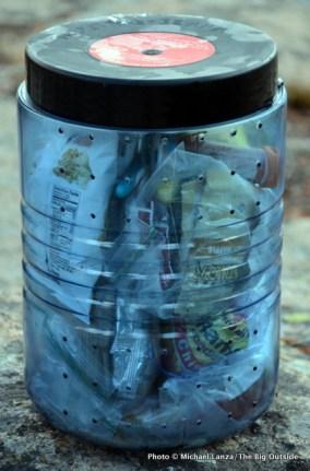 The Bear Vault BV500 bear canister.