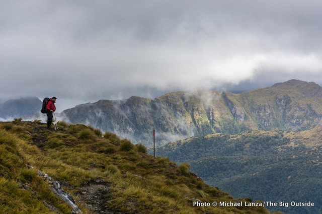 Jeff Wilhelm on the Dusky Track in New Zealand's Fiordland National Park.
