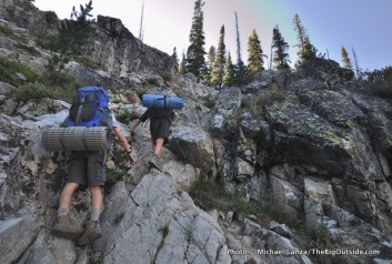 The user trail to Lake 8522, Sawtooth Mountains.