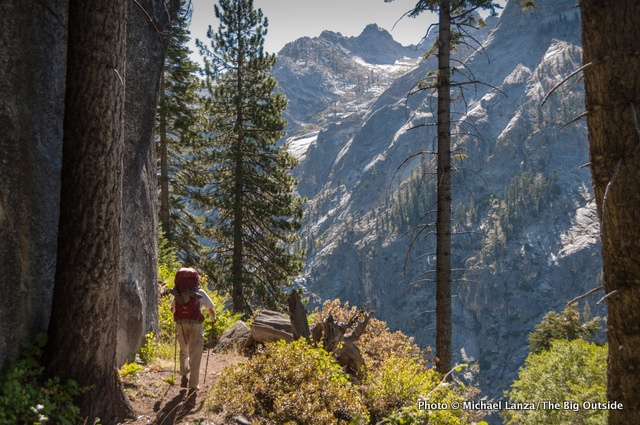 Tom Beach on the High Sierra Trail in Sequoia National Park.