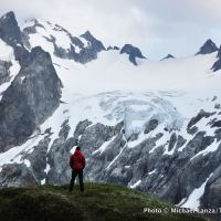 Dana Glacier from White Rock Lakes area, Ptarmigan Traverse, Glacier Peak Wilderness.