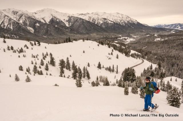 Backcountry skiing Galena Summit area, Idaho.