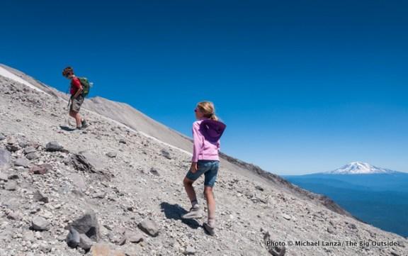 Nate and Alex hiking Monitor Ridge.