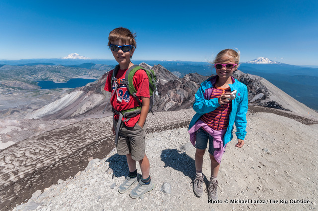 Nate and Alex at the crater rim of Mount St. Helens.