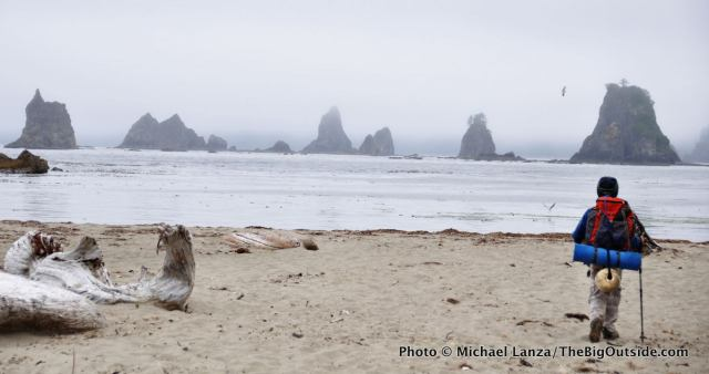 "Backpacking the Olympic coast, one of ""My Top 10 Family Adventures."""