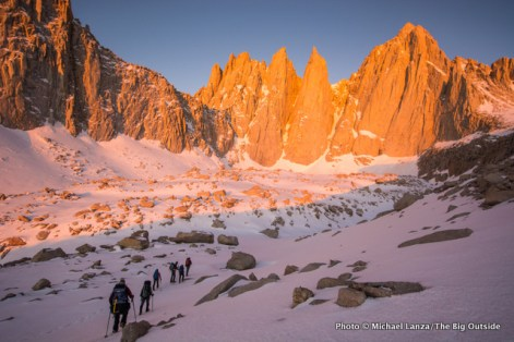 Climbing Mount Whitney, Sequoia National Park.