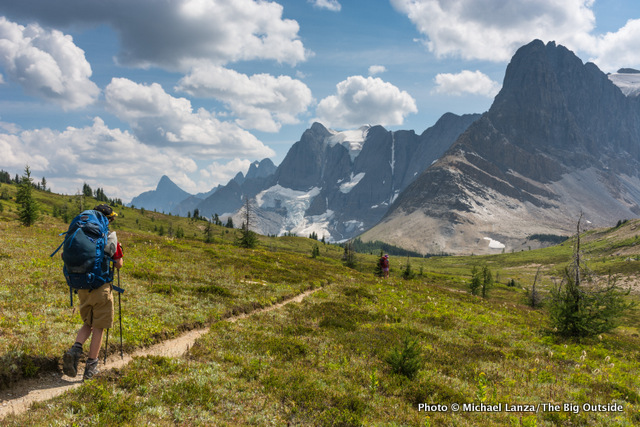 My son, Nate, using the Osprey Ace 50 on the Rockwall Trail in Canada's Kootenay National Park.