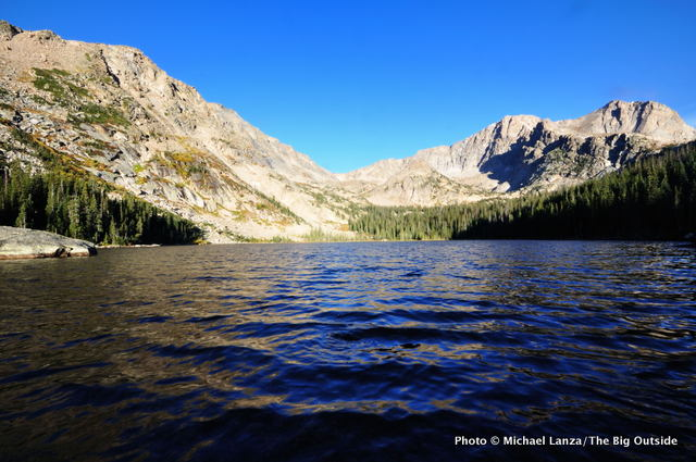 Thunder Lake, in Wild Basin, Rocky Mountain National Park, Colorado.