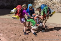 Playing in quicksand, day two, Paria Canyon.