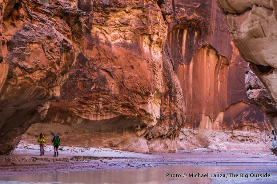 Two young girls backpacking Paria Canyon in southern Utah and northern Arizona.
