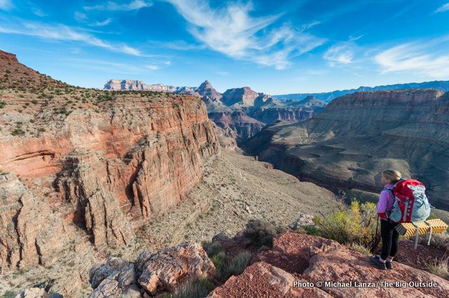 My daughter at Horseshoe Mesa, Grand Canyon National Park.