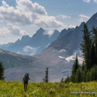 My wife, Penny, backpacking the Rockwall Trail in Canada's Kootenay National Park.