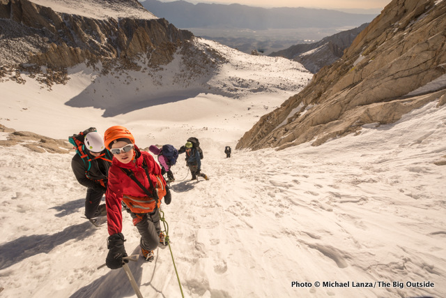Nate and our climbing team on Mount Whitney's Mountaineers Route.
