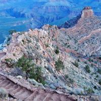 Hiking the South Kaibab Trail, Grand Canyon National Park.