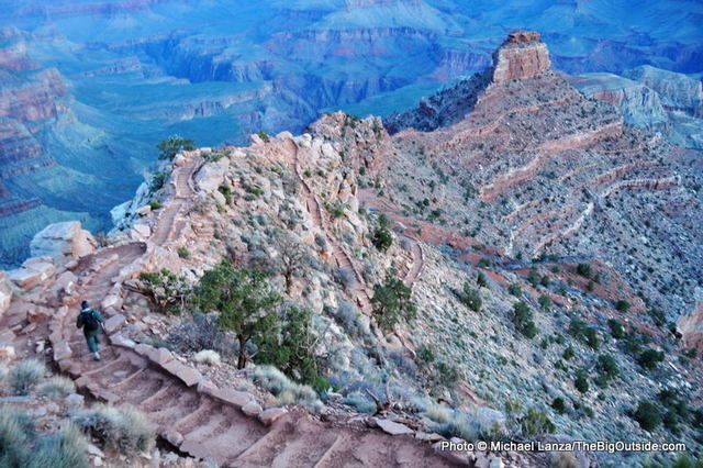 Hiking the South Kaibab Trail, Grand Canyon National Park.