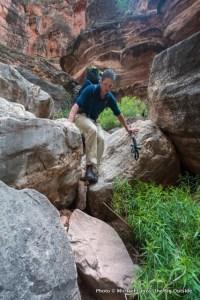 Jon Dorn in Royal Arch Canyon.