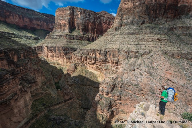 Kris Wagner above Royal Arch Canyon in the Grand Canyon.