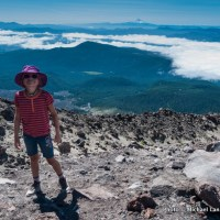Hiking Mount St. Helens.