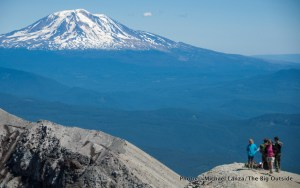 My family at the crater rim of Mount St. Helens.