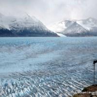 Jeff Wilhelm above Grey Glacier, Torres del Paine National Park, Chile.