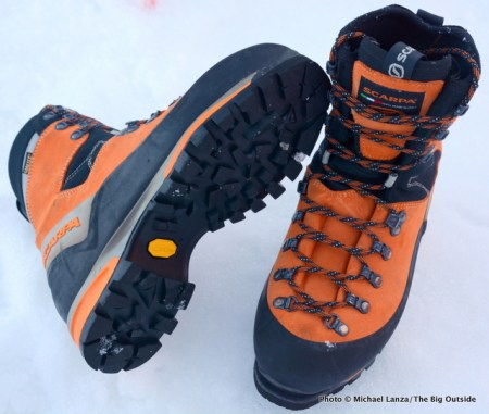 Scarpa Mont Blanc mountaineering boots.