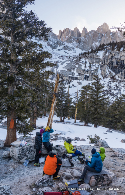 First campsite at 10,300 feet below Mount Whitney.