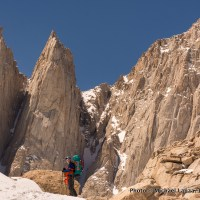 Near high base camp below Mount Whitney's East Face.