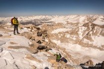Reaching summit plateau, Mountaineers Route, Mount Whitney.