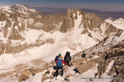 Descending off Mount Whitney.