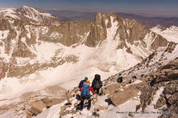 Descending off Mount Whitney.
